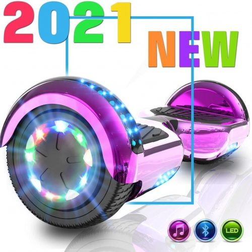 Hoverboard | Evercross | Bluetooth Speaker | Oxboard | LED verlichting | Roze Chroom