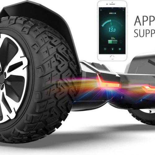 Hoverboard | GYROOR | Off-Road Hoverboard | 8.5 Inch wielen | Self Balance Hoverboard | Bluetooth Speakers | Oxboard | Zwart