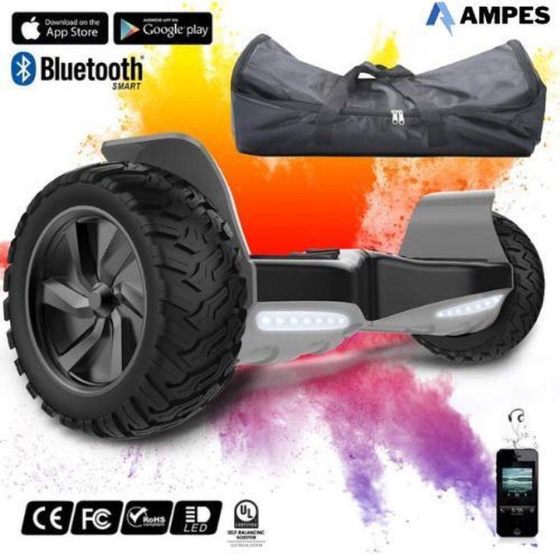 Off Road Hoverboard | Evercross | Bluetooth Speaker | Oxboard | Ampes | LED verlichting | Zwart