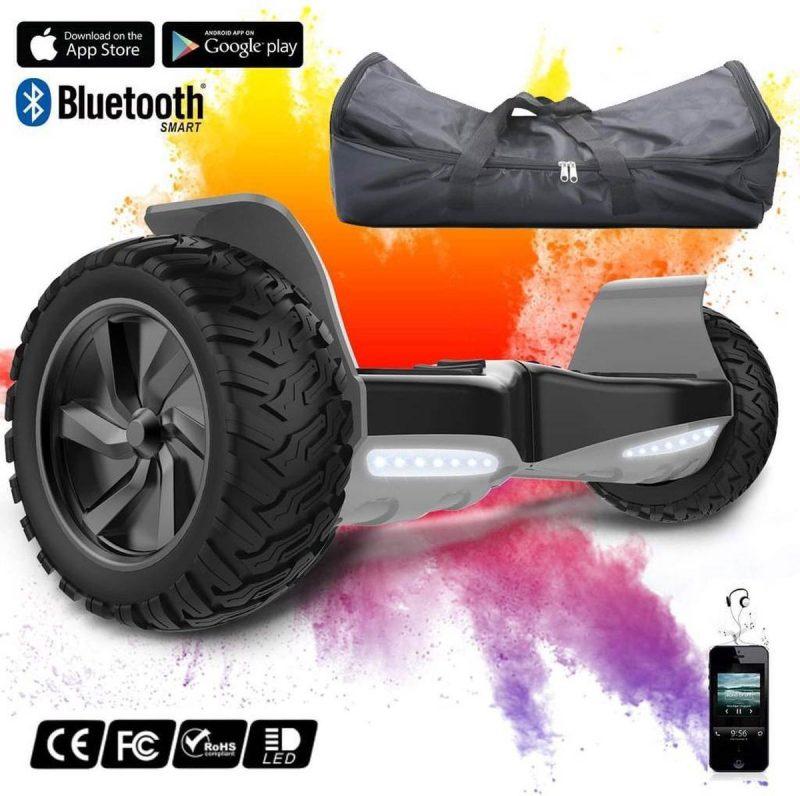 Off Road Hoverboard met Hoverkart | Evercross | Bluetooth Speaker | Oxboard | LED verlichting | Zwart