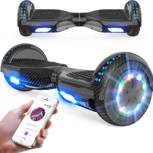 Evercross Hoverboard 6.5 Inch   Flits Wielen   Bluetooth Speaker   LED verlichting   Zwart